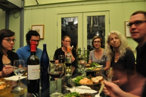 studio dinner at the Phinney-Dripps house